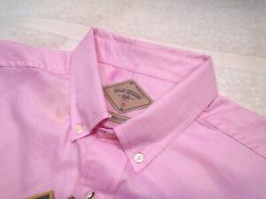 Bills Khakis 100% Cotton Pink Oxford Sport Shirt NWT Medium $145 Made in USA