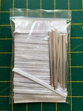 Mask Making Essentials; 10 metres of White 5mm Flat Elastic & 10 Nose Wires