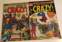 Crazy #1 & #2 VF 8.0 - Marvel Comics