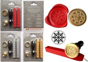 Christmas Snowflake Wax Stamp Seal STARTER KIT +2 Melting Wax Sticks KIT+XWSC123