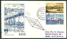 SAN MARINO - 1973 - New York 1673 e 1973 su raccomandata