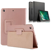 """Leather Stand Folio Case Plain Cover for Apple iPad 5th & 6th Gen Air 2 9.7"""""""
