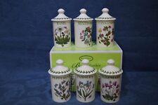 Portmeirion Botanic Garden Set of 6 Herb & Spice Jars BNIB