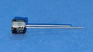 Mini-Elko,Radial,220µF (220uF) / 6,3V/105 °C,10 Pièces ( Ø6 ,3x5mm) - Yageo S5