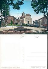 MONTE SAN MARTINO,GIARDINI PUBBLICI E CHIESA- F.G.MARCHE(MC) N.41397
