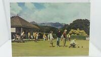 Vintage Postcard On the Bowling Green Brodick Isle of Arran Scotland 1970s