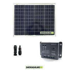 Kit Solare Fotovoltaico 50W 12V Regolatore PWM 5A Epsolar Camper Casa Nautica Il