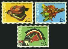 Surinam 535-537,Mnh.Michel 877-879.Folk art 1979:Javanese wooden head,Horse head