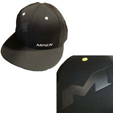 dc529aeade2 Miken Embossed Hat by Richardson R165–Black White Button  Embossed Miken LG