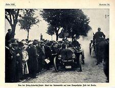 Prinz Heinrich Fahrt Start der Automobile auf d.Tempelhofer Feld bei Berlin 1908