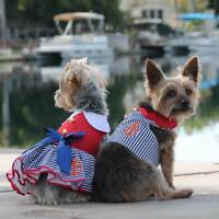Doggie Design Nautical & Sailor Dog Dresses or Vest & Matching Leash