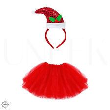 Santa Tutu Costume - Girls & Ladies Christmas Party Fancy Dress Costume