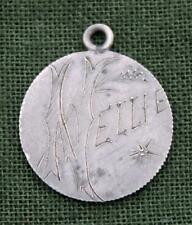 """Love Token Engraved with the Name """"Nellie"""" on Queen Victoria 6 Pence * Silver"""