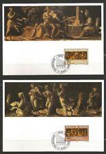 Liechtenstein 2 Maximum Cards 1985 - Music - European Year of Music - Musicians
