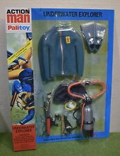 VINTAGE ACTION MAN 40th CARDED UNDERWATER EXPLORER BLUE FROGMAN