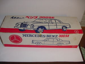 Vintage Mercedes Benz 300SE Pressed Steel Car W/Box! Over 24 Inches Long!