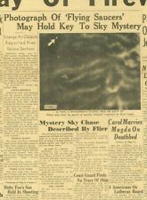 UFO Flying Saucer Spotted Photo may hold key Sky chase by DC3 July 5 1947 B36
