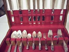 1847 ROGERS BROS. ETERNALLY YOURS SILVERPLATE FLATWARE SET - 53 PCS. - FREE SHIP