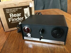 Rare Vintage Bearfinder 1 Radar Detector with box TESTED