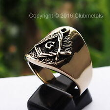 Freemason Masonic Compass Architect Of the Universe Bronze Ring