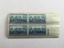 US Women In Our Armed Services 3 Cent Stamps - Blue - 4 Set