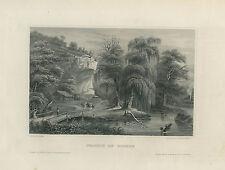 Antique Engraving – Prairie du Rocher (1854)