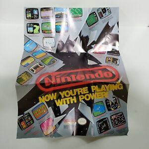 Nintendo Now You're Playing With Power NES Poster Insert