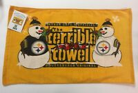 MYRON COPE'S PITTSBURGH STEELERS HOLIDAY SNOWMAN TERRIBLE TOWEL NEW WITH TAGS