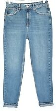 Topshop MOM High Waisted Blue Vintage Tapered Crop Jeans Size 12 W30 L34