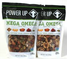 2 Bags GourmetNut 14 Oz Power Up Mega Omega Premium Ingredients Trail Mix