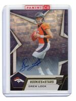 DREW LOCK 2019 ROOKIES AND STARS FOOTBALL AUTOGRAPH RC # 4/10 !!! DENVER BRONCOS