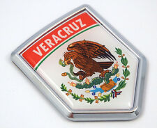 Veracruz Mexico Flag Mexican Car Emblem Chrome bike Decal 3D Sticker MX12