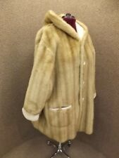 Jones NY NEW Womens 3X Faux Blonde Mink Fur & Ivory Suede Reversible Swing Coat