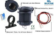 12V/24V Motorcycle Car Cigarette Lighter Power Socket + Bracket + 1M Cable