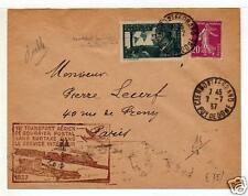 FRANCE 7 7 1937 AM Cover Special Flight Clemont Ferrant Paris  a4721