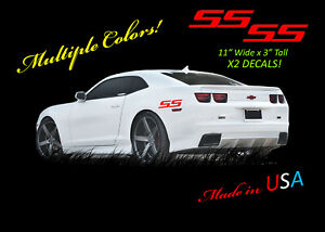 2  SS DECALS 2010 - 21 CHEVROLET CAMARO Compatible Racing Decal Sticker Logo rs