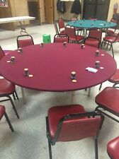 "Poker table cover -felt style in Speed Cloth FITS 60"" round - #1 upgrade surface"