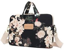 Dachee Black Peony Patten Waterproof Laptop Shoulder Messenger Bag Case Sleeve