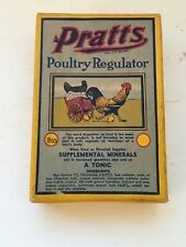1947 Vintage Package Unopen Pratts Poultry Regulator Supplemental Minerals Box