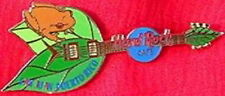 Hard Rock Cafe SAN JUAN 2001? Coqui FROG on Leaf Guitar PIN - HRC Catalog #78547