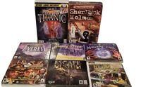 LOT OF 8 PC CD-ROM COMPUTER GAMES EXCELLENT CONDITION ~ NANCY DREW TITANIC EVERE