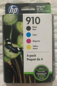 HP 910 4-Pack Black & Color Ink Cartridges Set 3YQ26AN Exp 2021+ New Retail Box