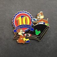Disney Pin Trading 10th Anniversary Series Chip & Dale LE 2000 Disney Pin 72357