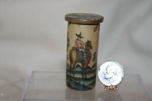Miniature Dollhouse Faux Handpainted Oriental Plant Pedestal Lynn Landry 1:12 NR