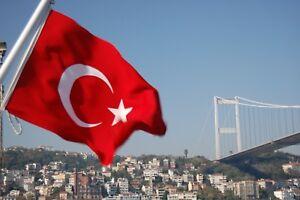 Large Turkey Turkish Flag Türk bayrağı SPEEDY DELIVERY