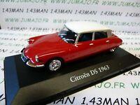 CH5G : Voitures Mythiques Atlas Chapatte : CITROËN DS 1963 rouge toit blanc