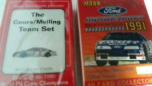 MAXX RACE CARDS PRESENTS THE 1990 COORS/MELLING FACTORY SEALED 40 CRD TEAM SET