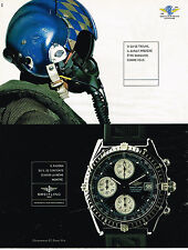 PUBLICITE ADVERTISING 045  1998  BREITLING  montre CHRONOMAT DIVER PRO cent aéro