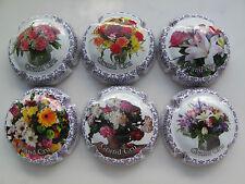 Série de 6  capsules Champagne CAUX.  D, Grand Cru, fleurs