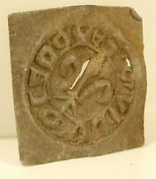 Stamp Or Seal Former Lead IN Fleur De Lys Heralidique XVIII Or Front Shield